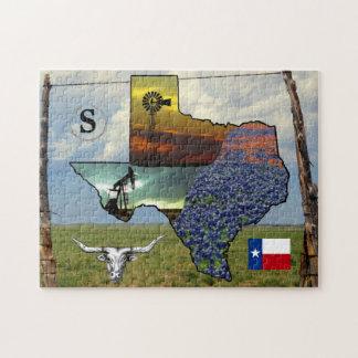 Texas - Karte, bunte Größe der Fotos 11x14 Puzzle