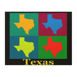 Texas-Karte Holzleinwand