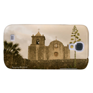Texas Kirche-Vintag/Sepia Galaxy S4 Hülle