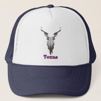 Texas-Kuh-Schädel und Gewehr-Hut Truckerkappe