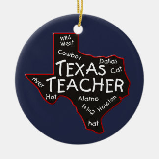 Texas-Lehrer Keramik Ornament