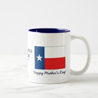 Texas-Mammas sind der Tag der GutMütter+Flagge Zweifarbige Tasse