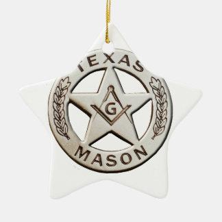 Texas-Maurer Keramik Ornament
