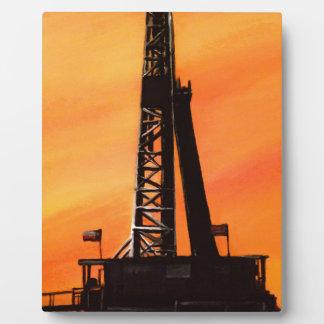 Texas-Ölplattform Fotoplatte