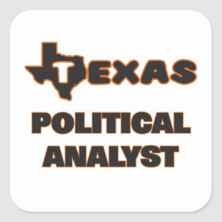 Texas-politischer Analyst Quadratischer Aufkleber