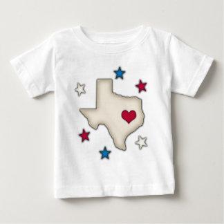 Texas-Rot-Herz Baby T-shirt