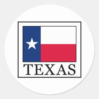 Texas Runder Aufkleber