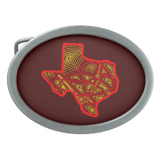 Texas Scribbleprint Ovale Gürtelschnalle