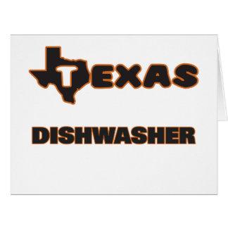 Texas-Spülmaschine Riesige Grußkarte