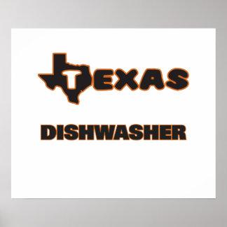 Texas-Spülmaschine Poster