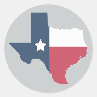 Texas-Staat - Flaggen-Aufkleber Runder Aufkleber