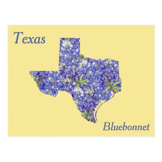 Texas-Staats-Blumen-Collagen-Karte Postkarten
