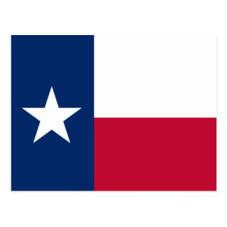 Texas-Staats-Flagge Postkarte
