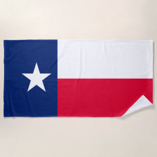 Texas-Staats-Flaggen-Entwurf auf a Strandtuch
