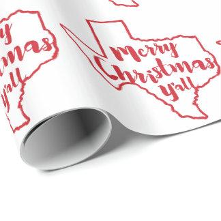 Texas-Staats-frohe Weihnacht-Verpackungs-Papier Geschenkpapier