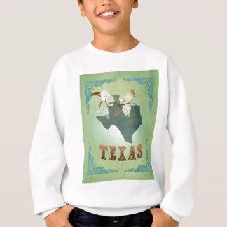 Texas-Staats-Karte - Grün Sweatshirt