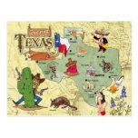Texas-Staats-Karte Postkarten