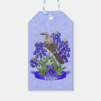 Texas-Staats-Spottdrossel u. Bluebonnet-Blume Geschenkanhänger