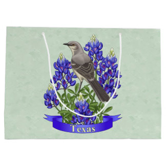 Texas-Staats-Spottdrossel u. Bluebonnet-Blume Große Geschenktüte