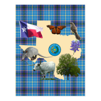 Texas-Staats-Symbole Postkarte