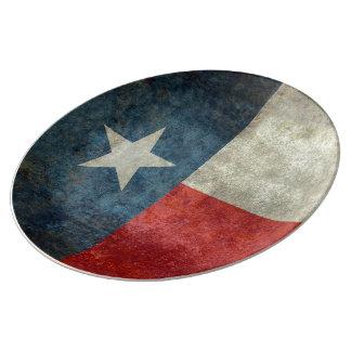 Texas-Staatsflagge Vintage retro Porzellan-Platte Porzellanteller