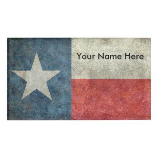 Texas-Staatsflagge Vintages retro NamensAbzeichen Namenschild