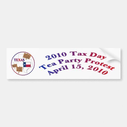 Texas-Steuer-Tagestee-Party-Protest Autosticker