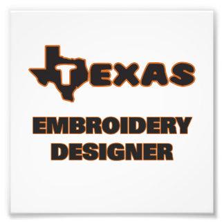 Texas-Stickerei-Designer Photographischer Druck
