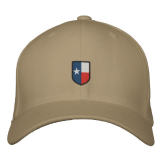 Texas stickte Wappen Hut