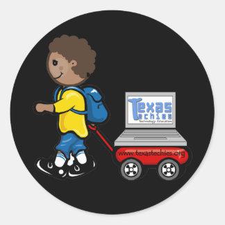 Texas Techies auf Rad-Aufklebern Runder Sticker