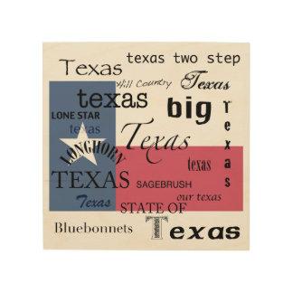 Texas-Text Entwurf-mit Texas-Flagge Holzwanddeko