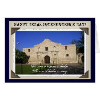 Texas-Unabhängigkeit Tag-D Alamo mit Zitat Karte