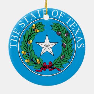 Texas* Weihnachtsverzierung Rundes Keramik Ornament
