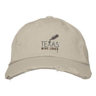 Texas-Wein-Liebhaber-beunruhigte Baseballmütze Bestickte Baseballkappe