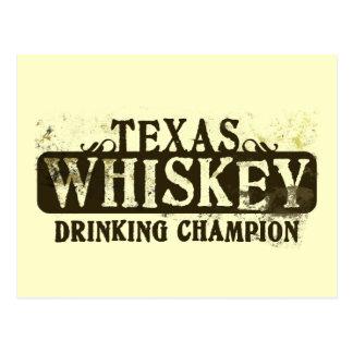 Texas-Whisky-trinkender Meister Postkarten