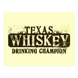 Texas-Whisky-trinkender Meister Postkarte