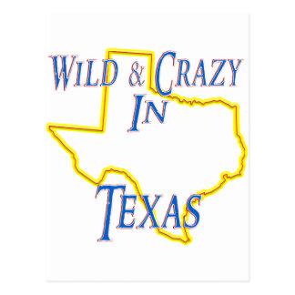 Texas - wild und verrückt postkarte