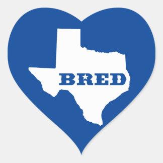 Texas züchtete Herz-Aufkleber