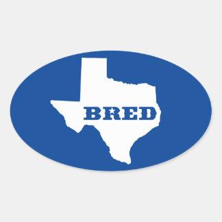 Texas züchtete ovaler aufkleber