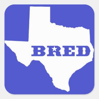 Texas züchtete quadratischer aufkleber