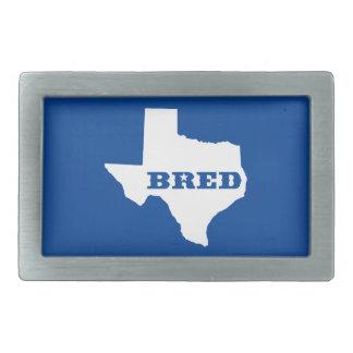 Texas züchtete rechteckige gürtelschnalle