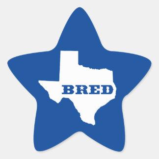 Texas züchtete Stern-Aufkleber