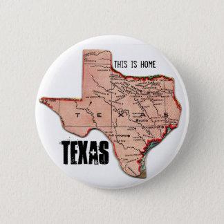 Texas-Zuhause Runder Button 5,1 Cm