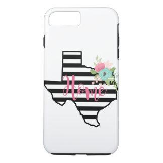 Texas-Zuhause-Schwarz-weißer iPhone 8 Plus/7 Plus Hülle