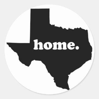 Texas-Zuhause-Version 1 Runder Aufkleber