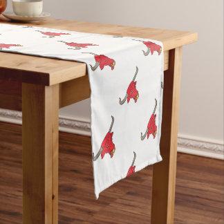Texaslonghorn-rotes Stier-Zeichnen Kurzer Tischläufer