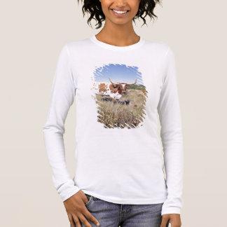 Texaslonghorn-Zucht (Foto) Langarm T-Shirt