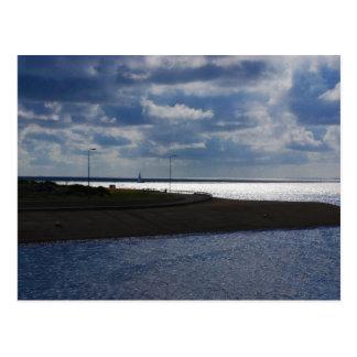 Texel Küstenlinie Postkarte