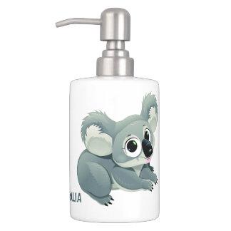 Text-Badezimmer-Set der niedlichen Koala Badset