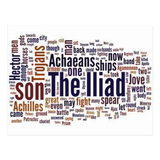 Text der Ilias durch Homer Postkarte